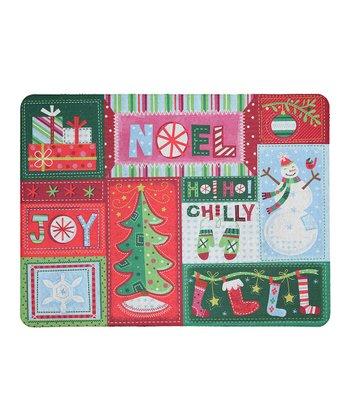 Christmas Stitches Outdoor Doormat