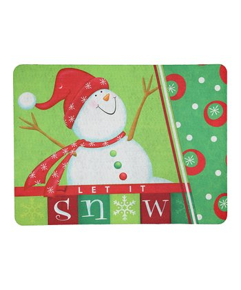 Happy Snowman Doormat