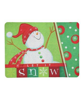 Happy Snowman Doormat