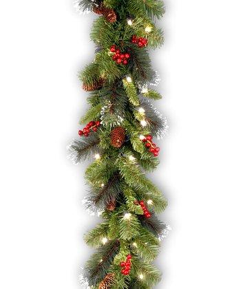 9' Crestwood Spruce Lighted Garland