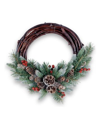 Frosted Berry Grapevine Wreath