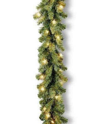 9' Kincaid Spruce Clear Lighted Garland