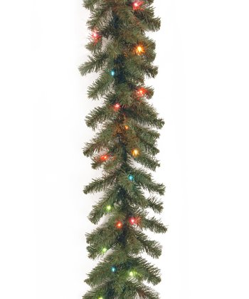 9' Kincaid Spruce Multicolor Lighted Garland