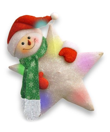 Star & Snowman Lighted Decoration