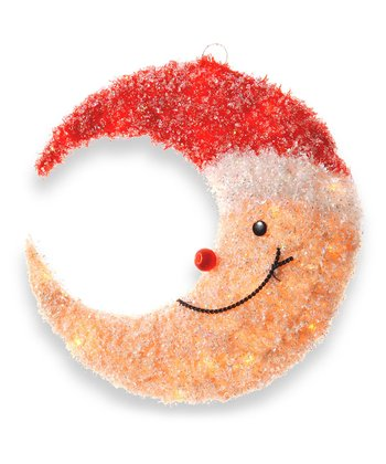 Smiling Yellow Moon Lighted Decoration