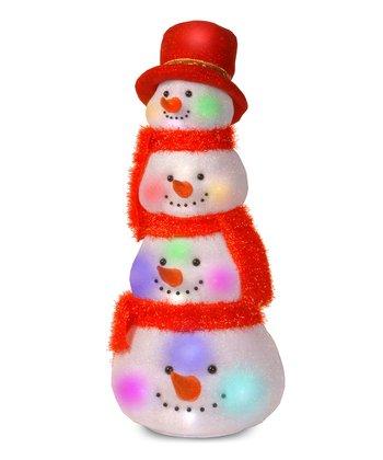 Snowman Heads Lighted Decoration