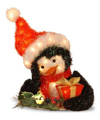 Tinsel Penguin Lighted Decoration