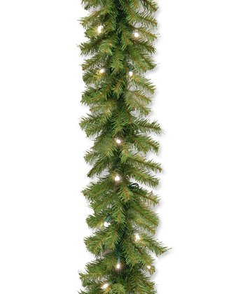9' Norwood Fir Concave Lighted Garland