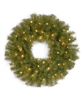 24'' Norwood Fir Lighted Wreath