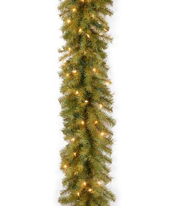 9' Norwood Fir Thin Clear Lighted Garland