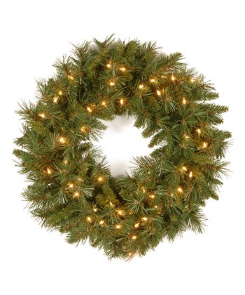 24'' Tiffany Fir Lighted Wreath