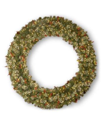 72'' Wintry Pine Lighted Wreath