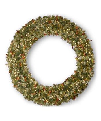 84'' Wintry Pine Lighted Wreath