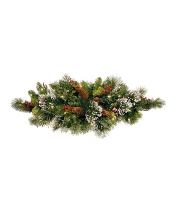 Wintry Pine Lighted Centerpiece