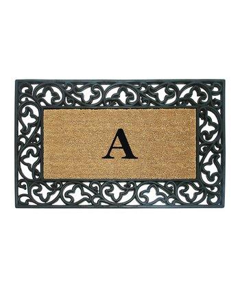 Acanthus Border Initial Doormat