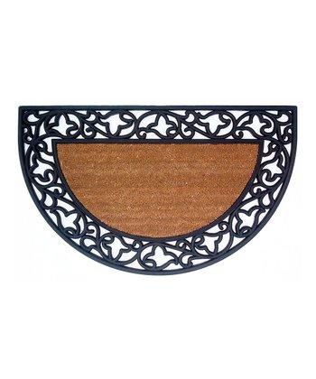 Acanthus Border Half-Circle Doormat