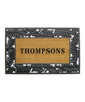 48'' Wrought Iron Personalized Doormat