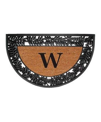 36'' Wrought Iron Initial Half-Circle Doormat