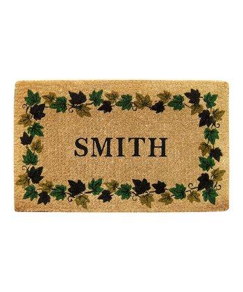 Ivy Vine Border Personalized Doormat