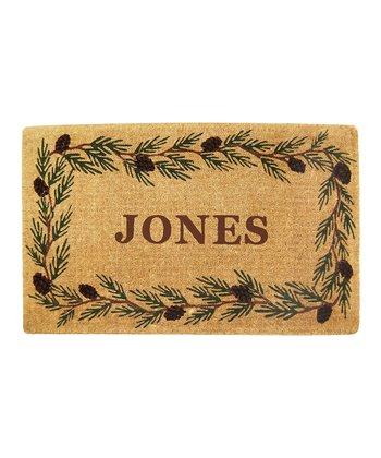 Evergreen Border Personalized Doormat