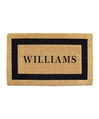 Single Frame Personalized Doormat