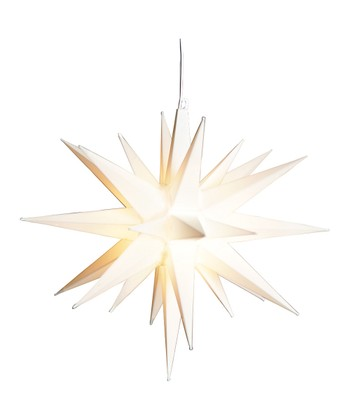 9'' White Moravian Star Yard Art