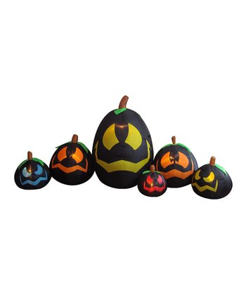 Black Pumpkins Inflatable Light-Up Lawn Decoration