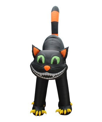 Black Cat Giant Inflatable Light-Up Lawn Decoration