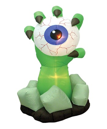 Monster Hand & Eyeball Inflatable Light-Up Lawn Decoration