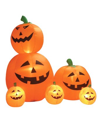 Rotating Pumpkins Inflatable Light-Up Lawn Decoration