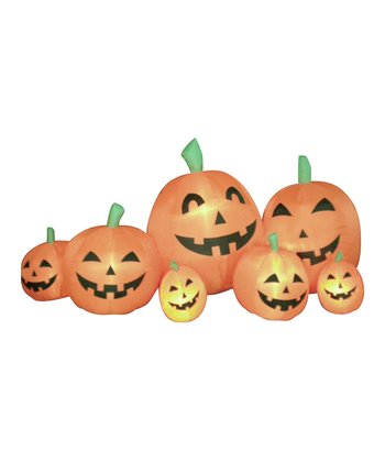 Orange Pumpkins Inflatable Light-Up Lawn Decoration