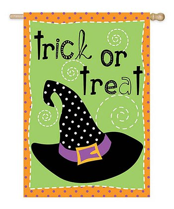 'Trick or Treat' Witch Hat Flag