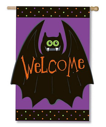 'Welcome' Batty Flag