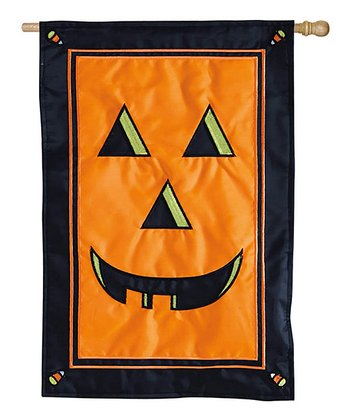 Jack-o'-Lantern Fiber Optic Flag