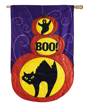 'Boo' Black Cat Flag
