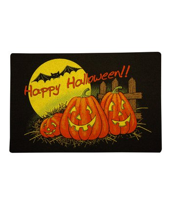 'Happy Halloween!!' Pumpkin & Bats Doormat