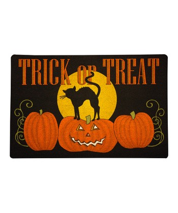 'Trick or Treat' Cat Doormat