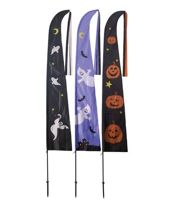Ghosts & Pumpkins Halloween Flag Set