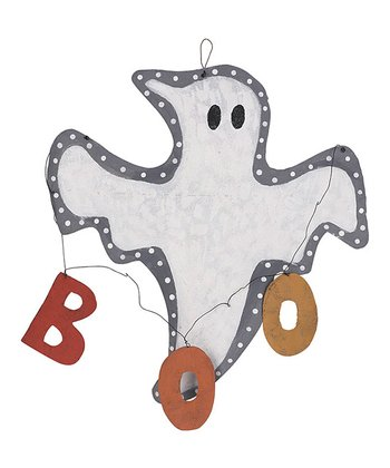 'Boo' Ghost Hanging Wall Décor