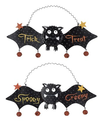 Bottle Cap Bat Hanging Wall Décor Set