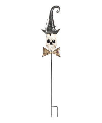 Skeleton Head Garden Stake