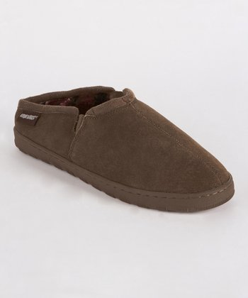 Chocolate Matt Berber Suede Slipper- Men