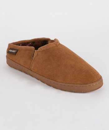 Tan Matt Berber Suede Slipper- Men