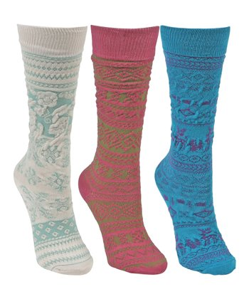 Blue & White Knee High Socks Set - Kids