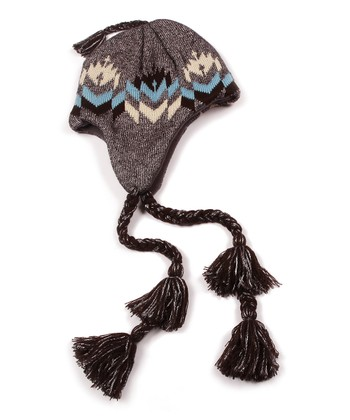 Gray North American Earflap Hat - Women