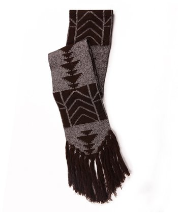 Brown North American Tassel Scarf - Women