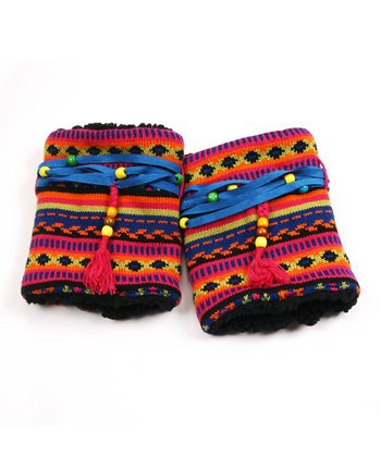 Black Guatemalan Beaded Boot Sweater