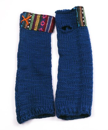 Blue Guatemalan Arm Warmers - Women