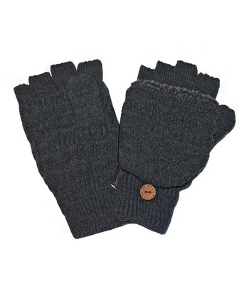 Men's Faux Fur Flip Mittens