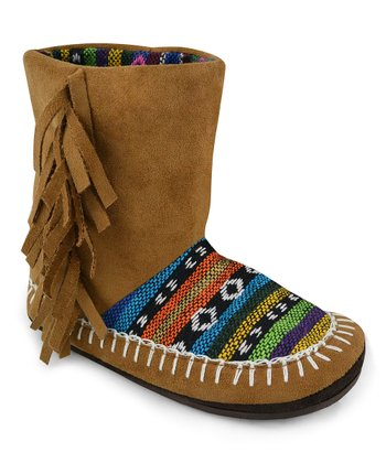 Brown Tiffany Slipper Boot - Kids